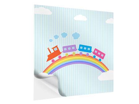 Klebeposter Der Regenbogenzug