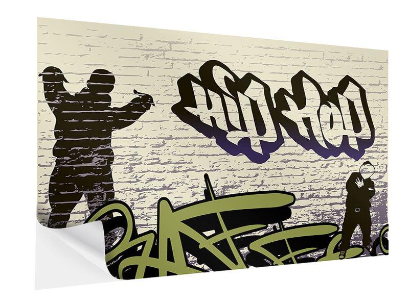 Klebeposter Graffiti Hip Hop