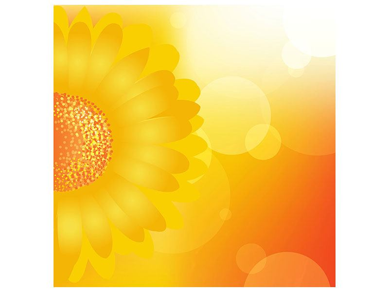 Klebeposter Sunflower Power