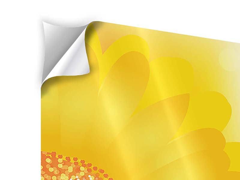 Klebeposter Sunflower Power