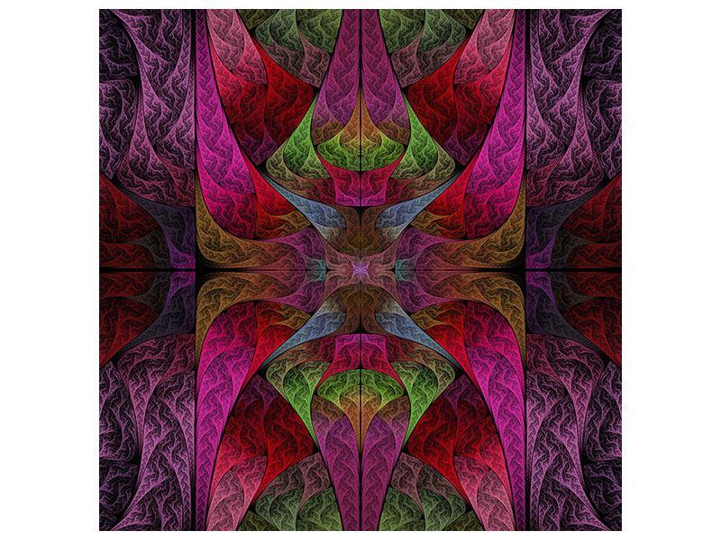 Klebeposter Fraktales Muster