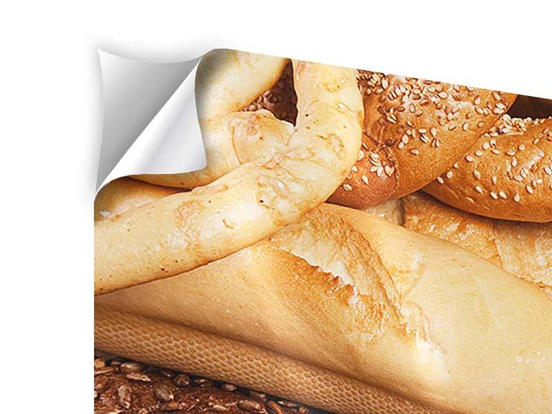 Klebeposter Brot und Bretzel