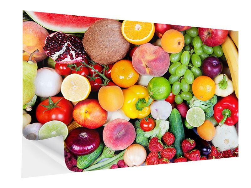 Klebeposter Frisches Obst