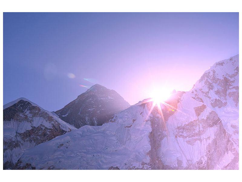 Klebeposter Sonnenaufgang beim Mount Everest