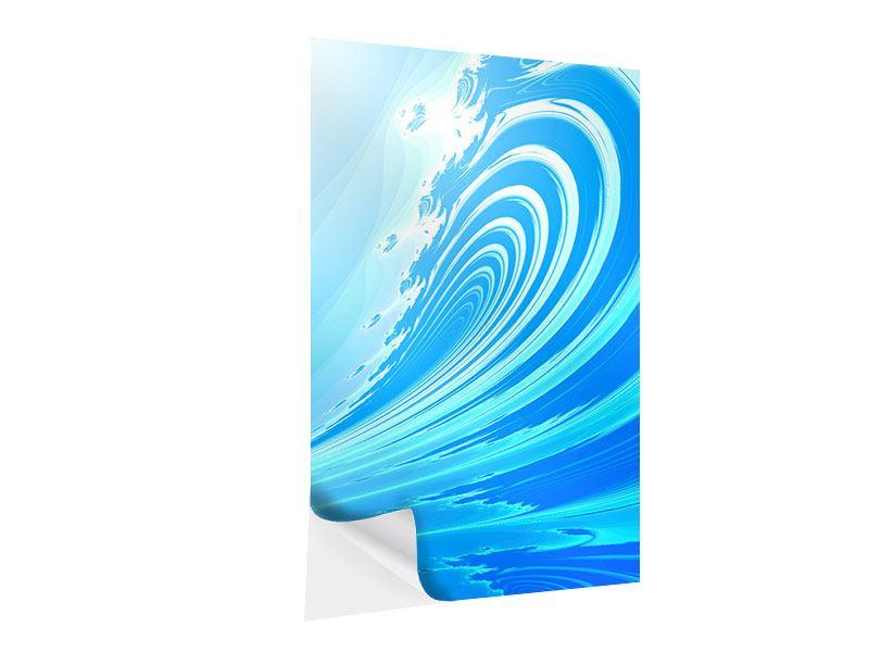 Klebeposter Abstrakte Waves