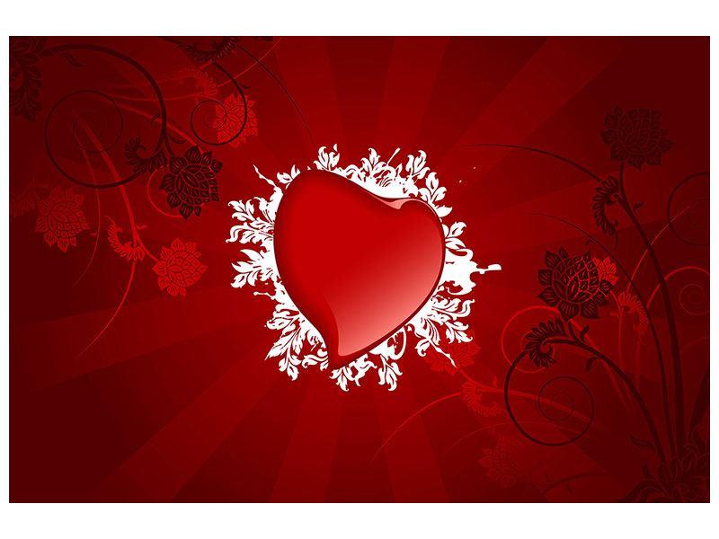 Klebeposter Flying Heart