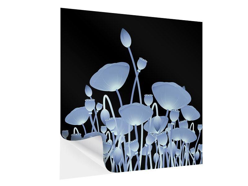Klebeposter Futurische Blumen