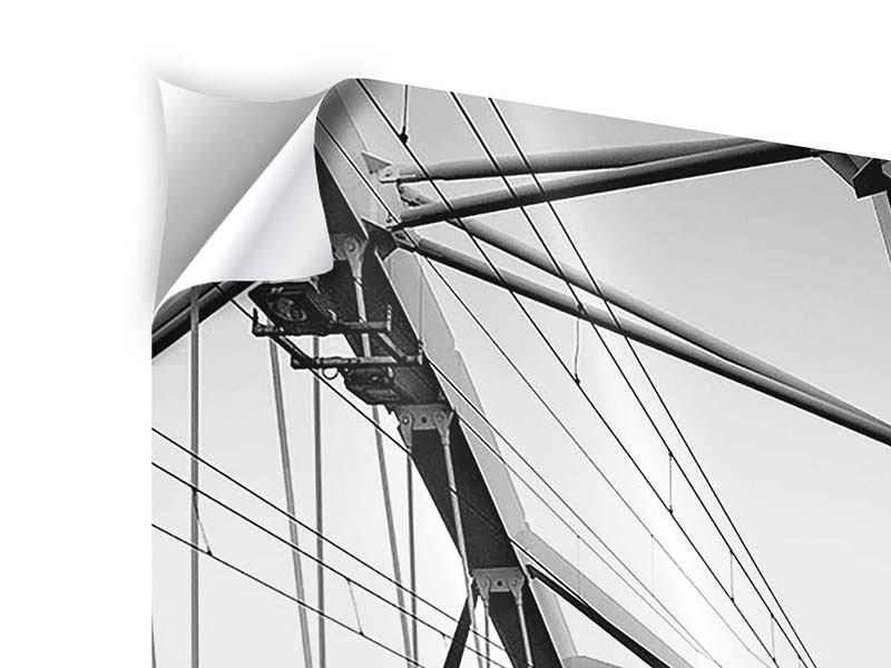 Klebeposter Auf der Brücke