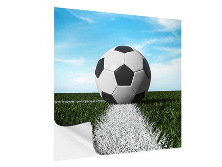 Klebeposter Der Fussball