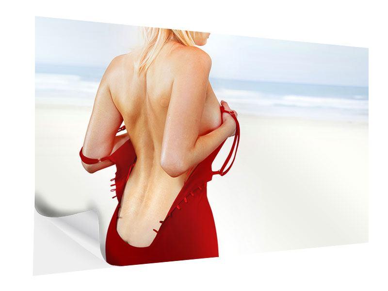Klebeposter Rücken einer Schönheit