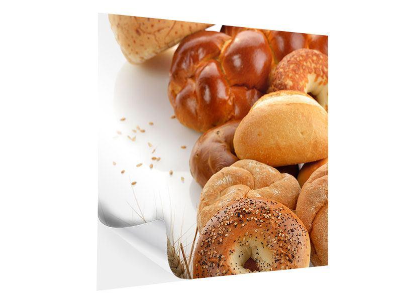 Klebeposter Frühstücksbrötchen