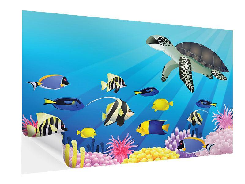 Klebeposter Kinder Unterwasserwelt