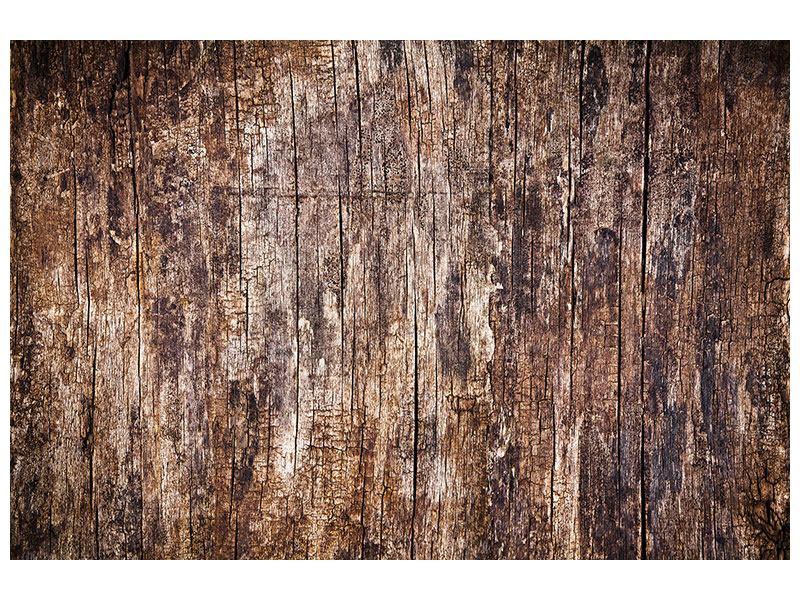 Klebeposter Retro-Holz