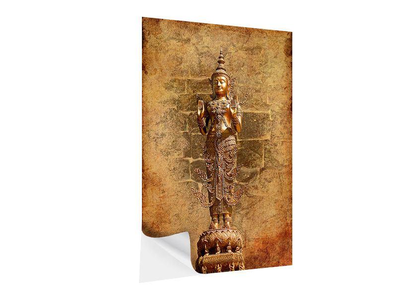 Klebeposter Goldene Buddha-Statue