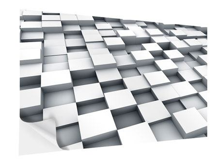 Klebeposter 3D-Kubus