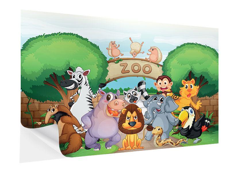 Klebeposter Der lustige Zoo