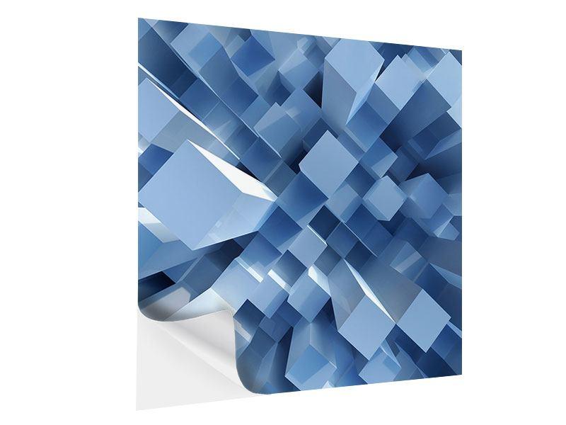 Klebeposter 3D-Säulen