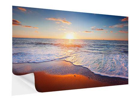 Klebeposter Sonnenuntergang am Horizont
