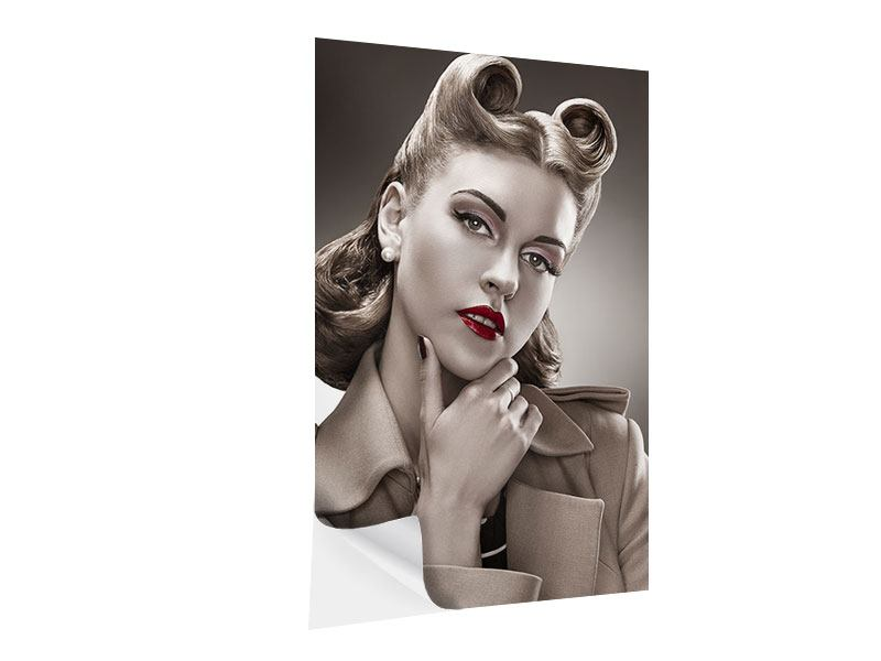 Klebeposter Pin Up im Retrostyle