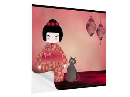 Klebeposter Chinese Girl