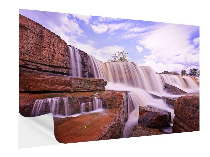 Klebeposter Himmlischer Wasserfall