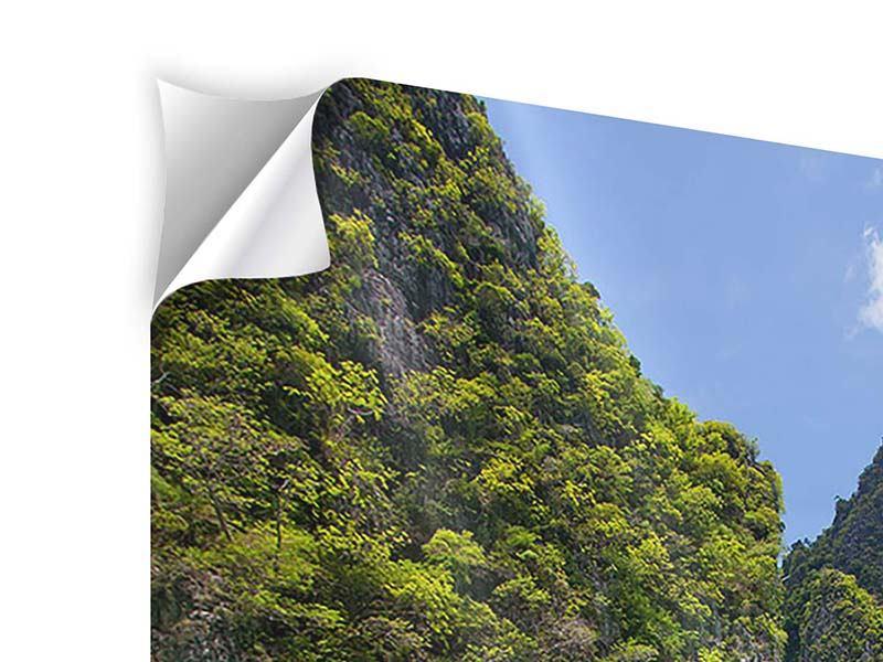 Klebeposter Das Kliff und das Meer