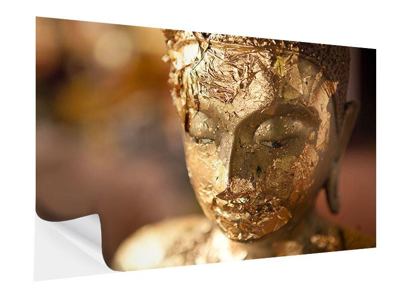 Klebeposter Kopf eines Buddhas