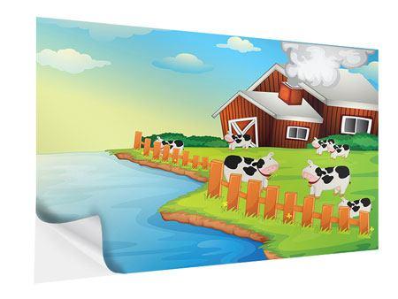 Klebeposter Eine Kuh macht Muh