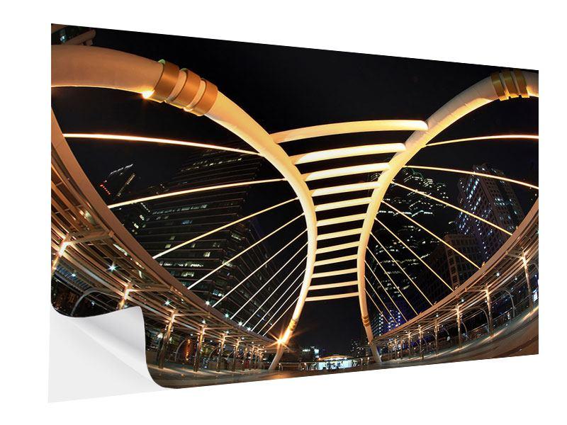 Klebeposter Avantgardistische Brücke