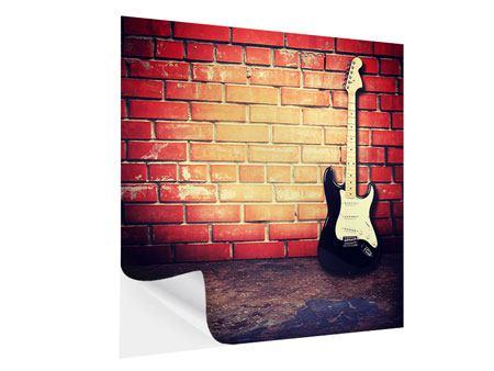 Klebeposter E-Gitarre