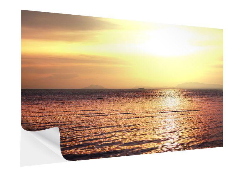 Klebeposter Sonnenuntergang an der See