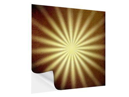 Klebeposter Abstrakte Sonnenstrahlen
