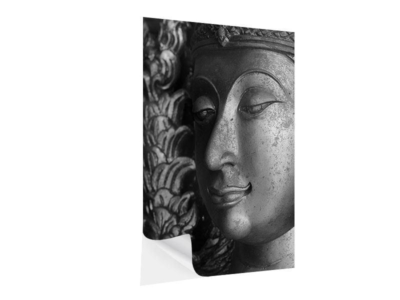 Klebeposter Buddha Close Up