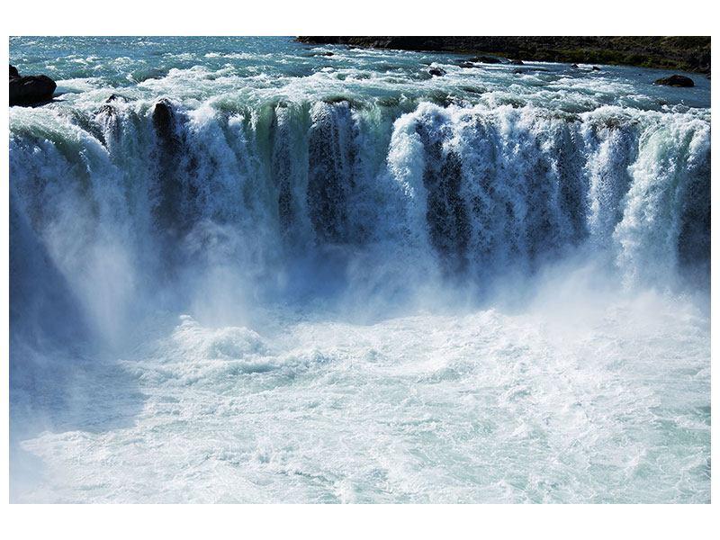 Klebeposter Mächtiger Wasserfall