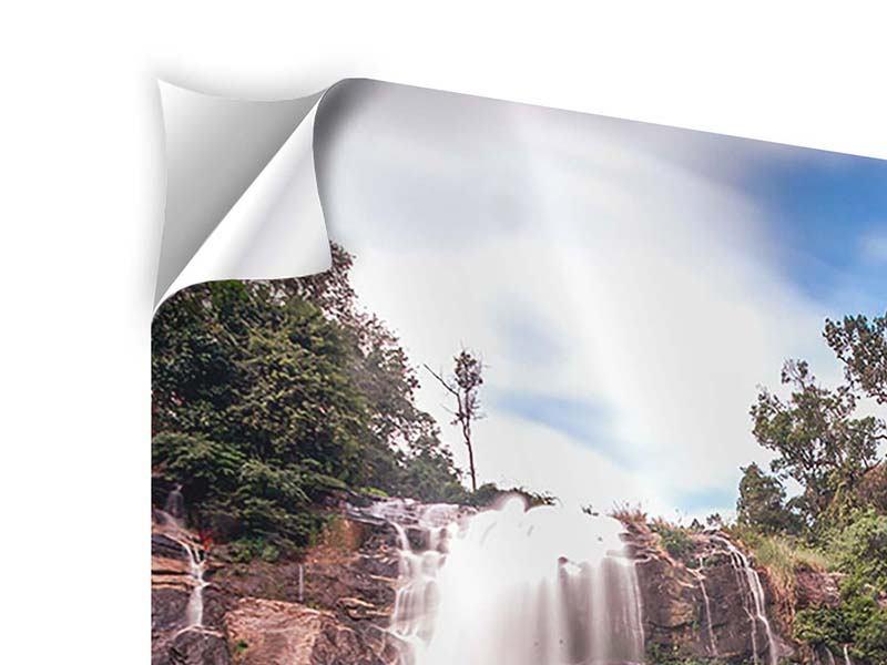 Klebeposter Wasserfall in Thailand