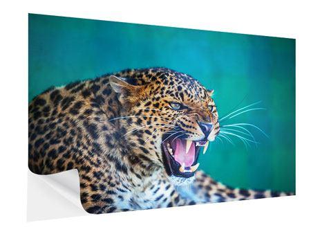 Klebeposter Achtung Leopard