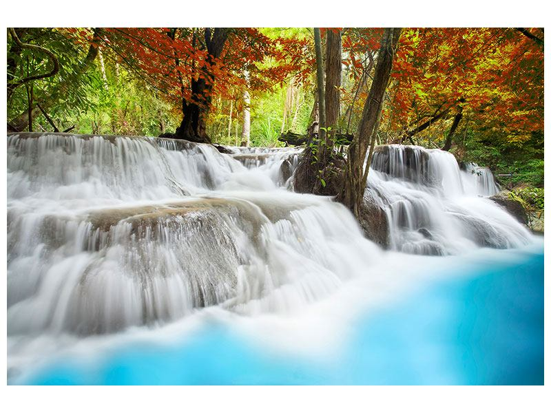 Klebeposter Erawan Wasserfall
