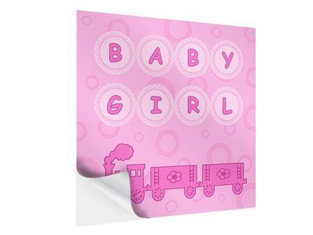 Klebeposter Baby-Girl