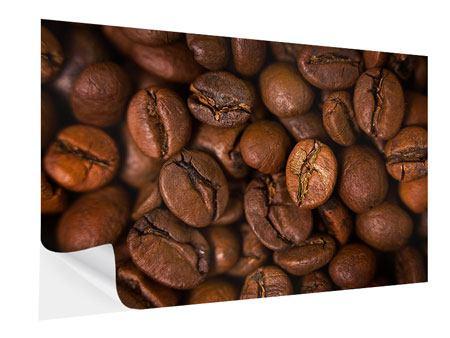 Klebeposter Close Up Kaffeebohnen