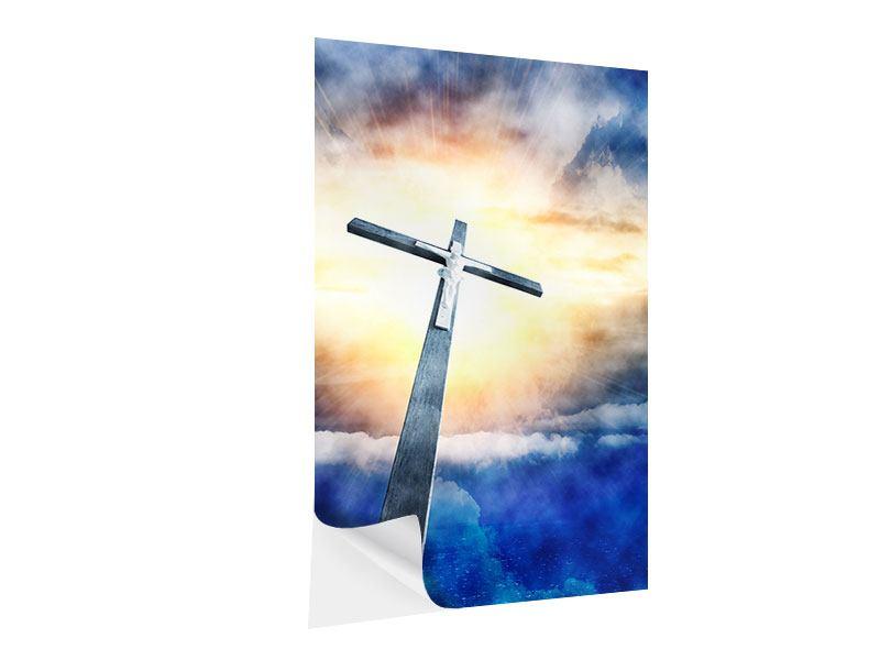 Klebeposter Jesus am Kreuz