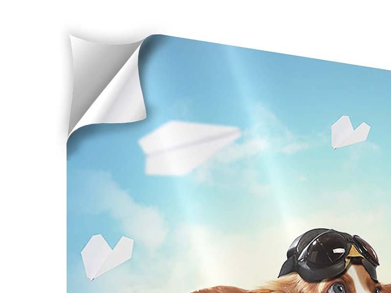 Klebeposter Flying Dog