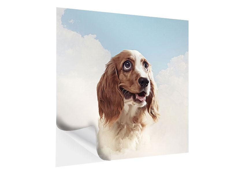 Klebeposter Fröhlicher Hund