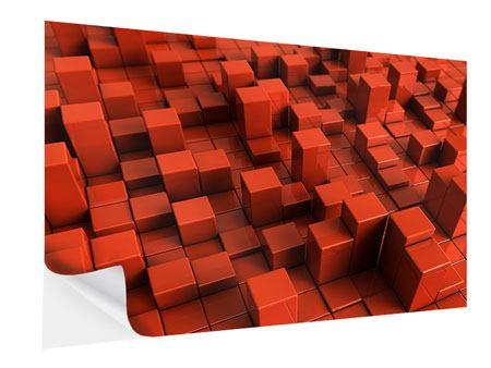 Klebeposter 3D-Rechtkant