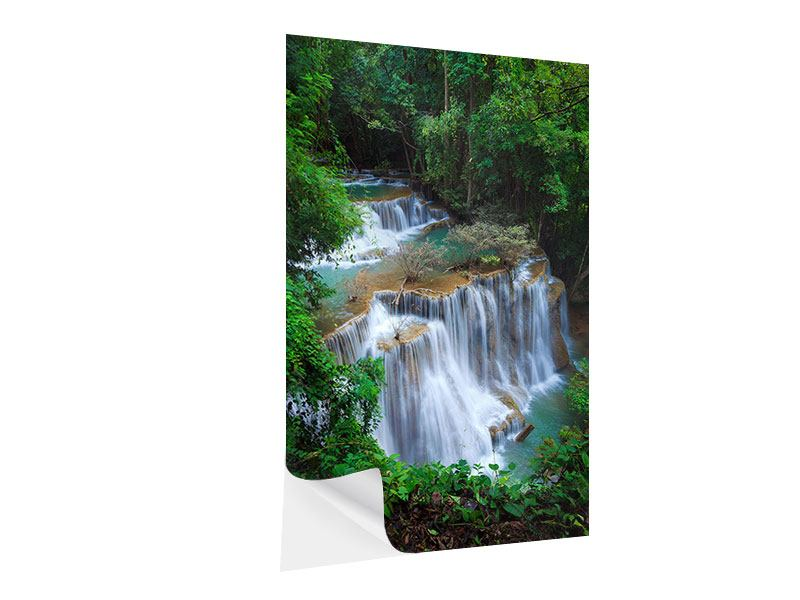 Klebeposter Deep Forest Waterfall