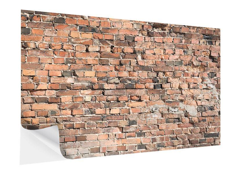 Klebeposter Alte Backsteinmauer