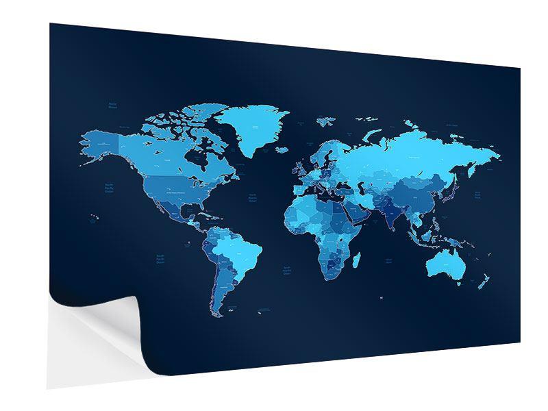 Klebeposter Weltkarte