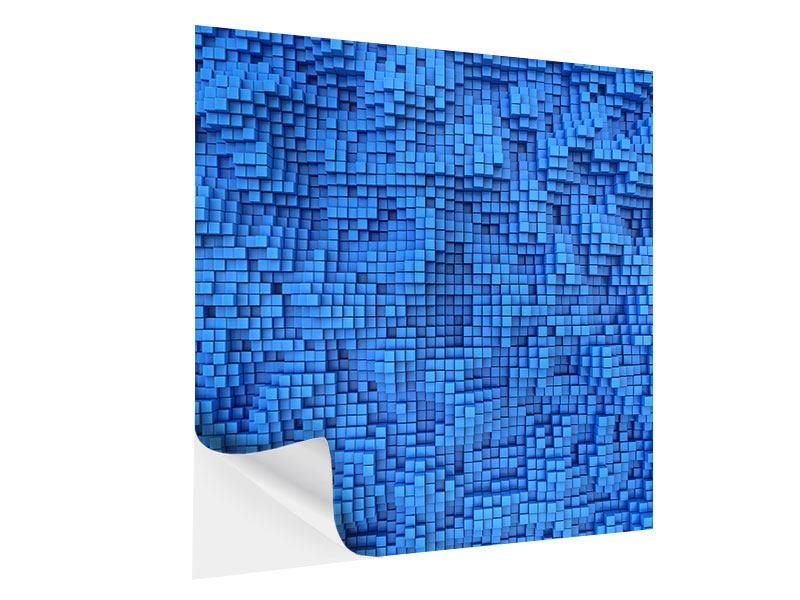 Klebeposter 3D-Mosaik