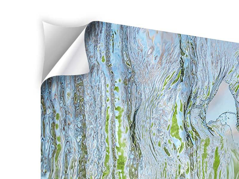 Klebeposter Hinter dem Wasserfall