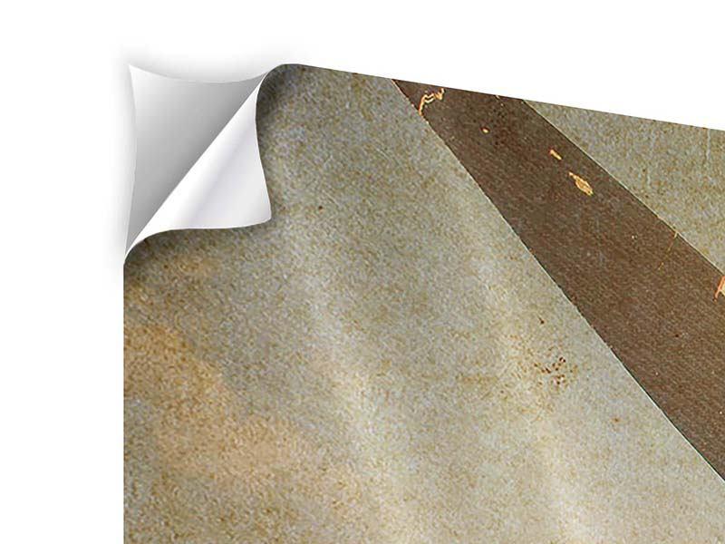 Klebeposter Propellerflugzeug im Grungestil