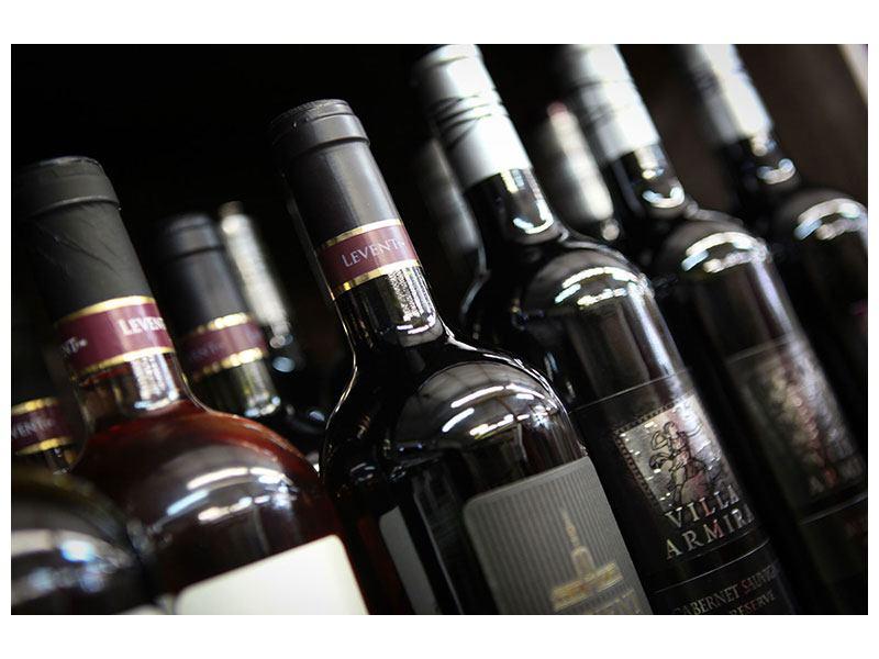 Klebeposter Flaschenweine